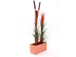 Schilfgras hellbraun ohne Rohrkolben 127cm, Kunstpflanze