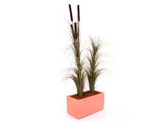 Schilfgras dunkelbraun ohne Rohrkolben 127cm, Kunstpflanze
