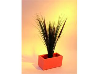 Lampenputzergras mit 5 braunen Rispen 96cm, Kunstpflanze