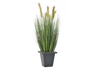 Europalms Moorgras im Dekotopf, 60cm - Kunstpflanze