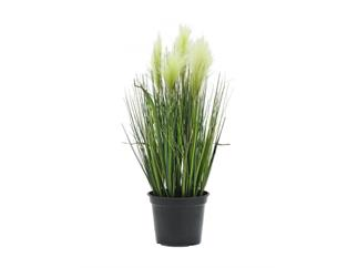 Europalms Federgras, weiß, 60cm, Kunstpflanze
