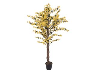 Europalms Forsythienbaum mit 4 Stämmen, gelb, 150 cm - Kunstpflanze