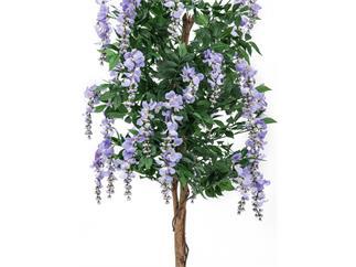 Europalms Goldregenbaum violett Zementfuß 240cm, Kunstpflanze