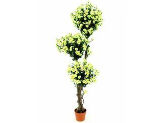 Margaritenkugelbaum 3-fach/Zementtopf 160cm, Kunstpflanze