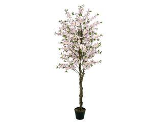 Europalms Kirschbaum mit 4 Stämmen, rose, 180 cm - Kunstpflanze