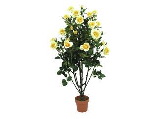 Europalms Rosenbusch, zartgelb, 140cm - Kunstpflanze