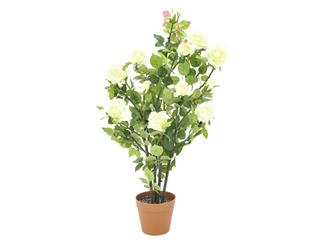 Europalms Rosenstrauch, cremefarben, 86cm - Kunstpflanze