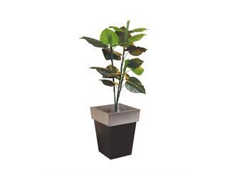 Europalms Caladiumpflanze 90cm, Kunstpflanze