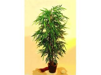 Bambusbaum mit Perlenstamm (natur) 210cm, Kunstpflanze