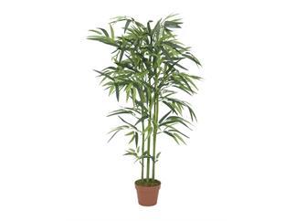Europalms Bambus, 120cm, Kunstpflanze im Gärtnertopf