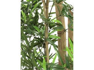 Europalms Bambus mit dicken Naturstämmen, 150cm - Kunstpflanze