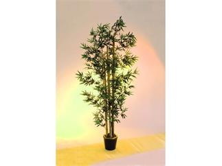 Bambus dicke Naturstämme 205cm, Kunstpflanze