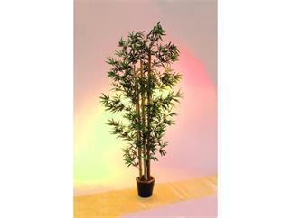 Bambus dicke Naturstämme 225cm, Kunstpflanze