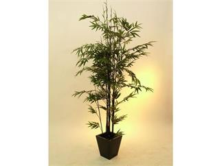 Bambus Dunkelstamm/Zementto. 1735Bl.210cm, Kunstpflanze