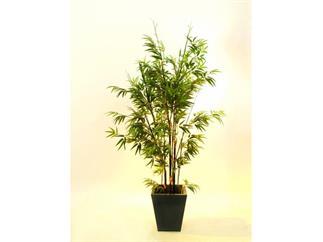 Bambus Dunkelstamm/Zementtop.2334Bl.240cm, Kunstpflanze