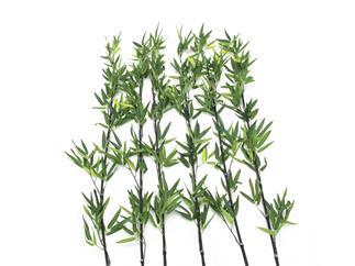 Europalms Bambusstab mit Blättern, 180cm, 6er Pack - Kunstpflanze
