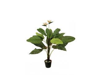 Europalms Tralizie 22 Blätter und 2 Blüten 230cm, Kunstpflanze