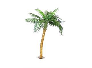 Europalms Kokospalme mit Biege-Stamm, 320cm, Kunstpflanze