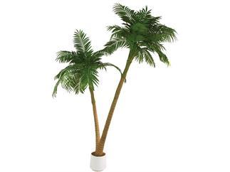 Europalms, Palme, 2-stämmig, 305cm, Kunstpflanze
