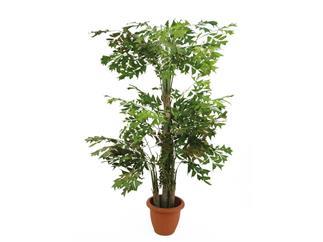 EUROPALMS Fishtail-Palmbaum, 380cm Kunstpflanze