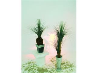 Graspalme 2fach mit Palmfaserstamm 110cm, Kunstpflanze