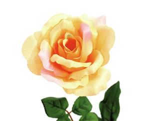 Europalms Rose, cremefarben - Kunstpflanze
