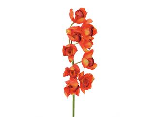 Europalms Cymbidiumzweig, rot, 90cm - Kunstpflanze