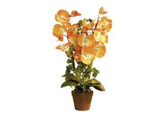 Europalms Orchidee, orange, 57cm - Kunstpflanze