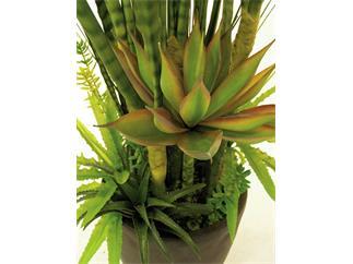 Europalms Sukkulenten-Mix 190cm Kunstpflanze