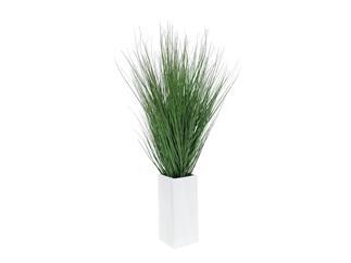 Europalms Dünengras, 95cm im weißen Holztopf - Kunstpflanze