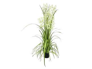 europalms Orchideengras, limette, 140cm, Kunstpflanze