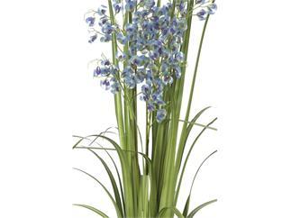 europalms Orchideengras, lila-blau, 140cm, Kunstpflanze