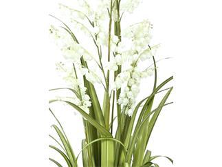 Europalms Glockenblume, weiß, 105cm - Kunstpflanze