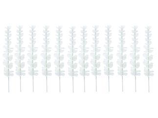 12x Europalms Kristalleucalyptus, weiß, 81cm Kunstpflanze
