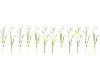 12x Europalms Kristalltulpe, weiß, 61cm, Kunstpflanze
