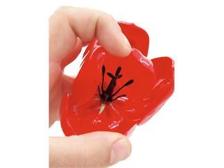 12x Europalms Kristalltulpe, rot, 61cm, Kunstpflanze