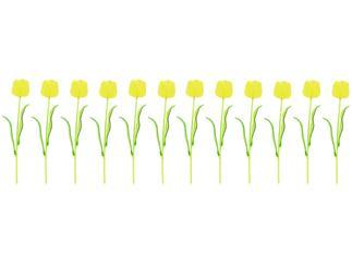 12x Europalms Kristalltulpe, gelb, 61cm, Kunstpflanze