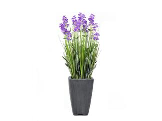 Europalms Lavendel, lila, im Dekotopf, 45cm - Kunstpflanze