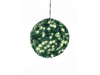 Europalms Buchsbaumkugel 200 LEDs warm-weiß ca 40cm, Kunstpflanze