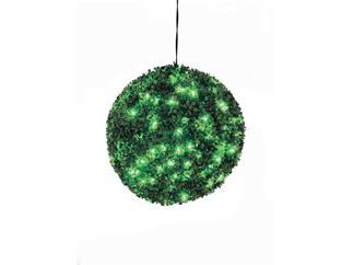 Europalms Buchsbaumkugel 200 LEDs grün ca 40cm, Kunstpflanze
