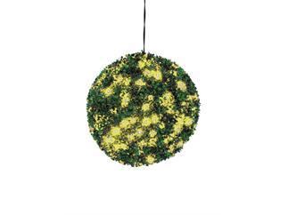 Europalms Buchsbaumkugel 200 LEDs gelb ca 40cm, Kunstpflanze
