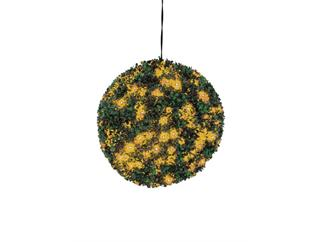 Europalms Buchsbaumkugel 200 LEDs orange ca 40cm, Kunstpflanze