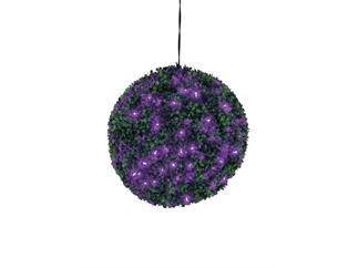 Europalms Buchsbaumkugel 200 LEDs lila ca 40cm, Kunstpflanze