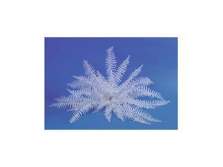 Europalms Dekofarn 36 Blätter zum Selbstfärben, weiß, Kunstpflanze