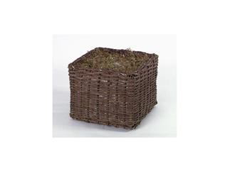 Europalms Cubic-Wundertopf zum Hängen und Stellen - geflochtener Holzkorb