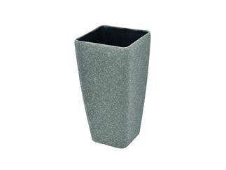 Dekotopf STONA-41, kubisch, grau