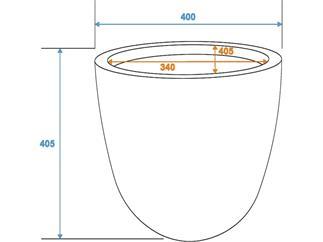 "Übertopf I) ""Terracotta-Optik"" D40/H=40cm"
