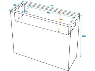 LEICHTSIN CUBE-100, braun, glänzend, Raumteiler