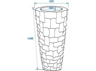 EUROPALMS Designübertopf SPATTLE-140 cm, weiß