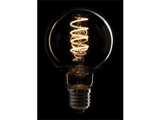 Showtec LED Filament Bulb Showtec LED Filament Bulb E27, 5W, dimmbar, Gold-Glasabdeckung, G80